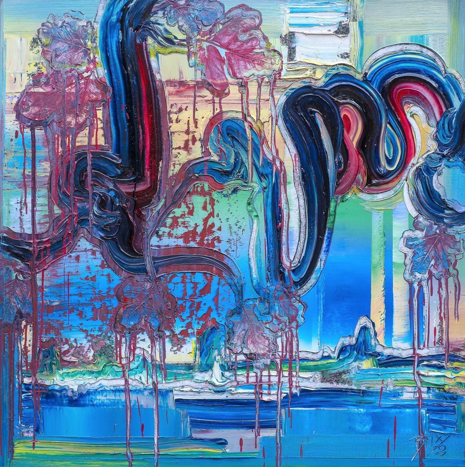 brixy horizon moderne kunst 2018 100x100cm oil canvas abstrakte gemalde künstler modern art gemälde