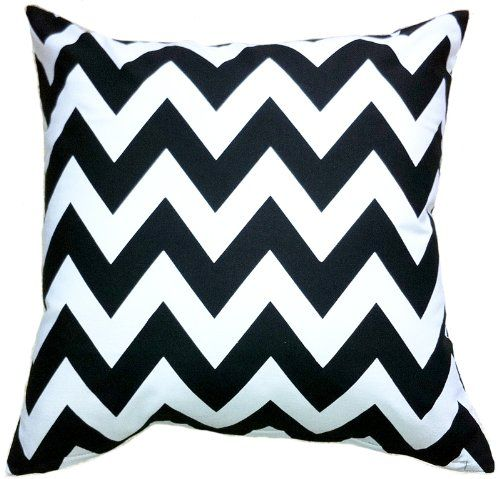 "Artiwa Zig Zag Black and White 18""x18"" Canvas Cotton Sofa Couch Bed Throw Decorative Cushion Cover Artiwa http://www.amazon.com/dp/B009YRY2O0/ref=cm_sw_r_pi_dp_fuzfub1YTST7C"
