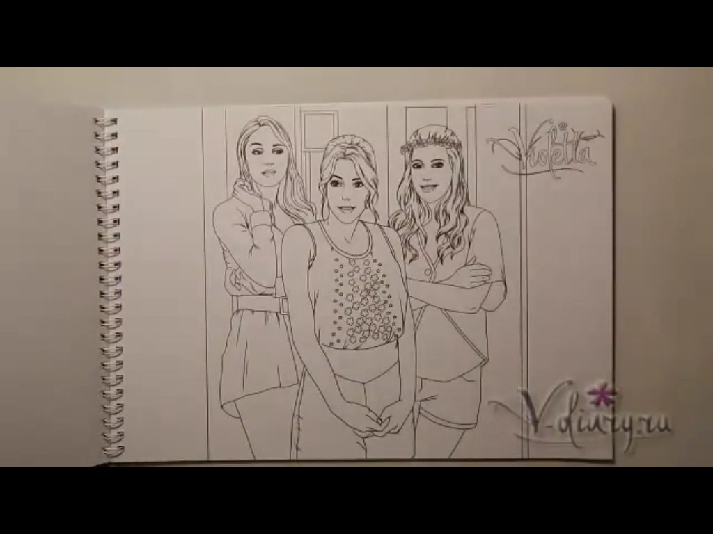 Printable coloring pages violetta - Violetta Season 2