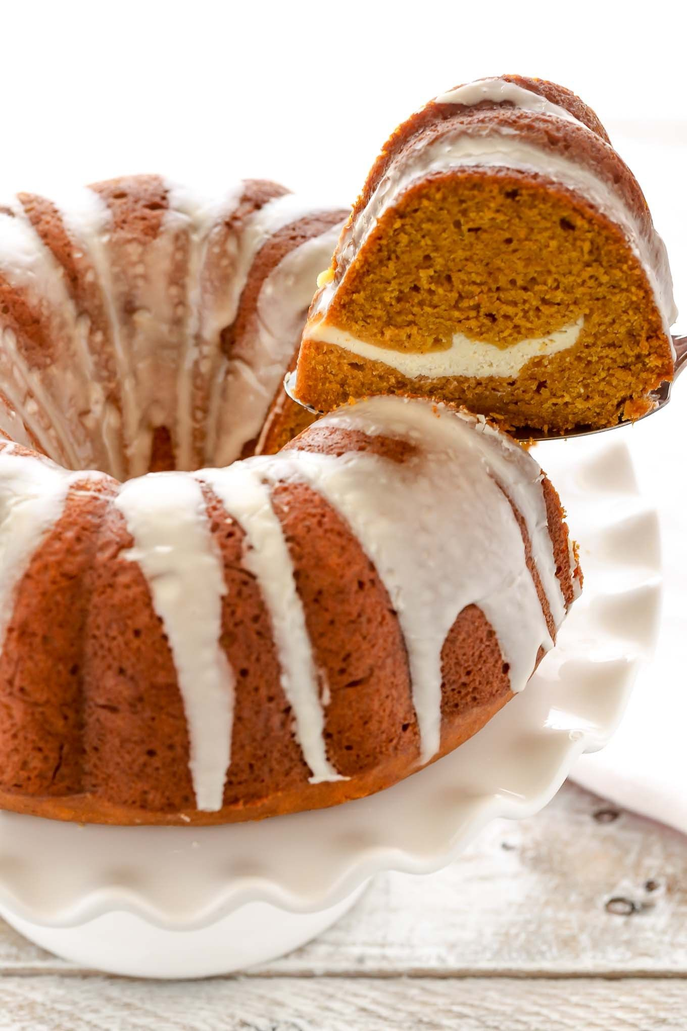 Pumpkin Cream Cheese Bundt Cake Live Well Bake Often