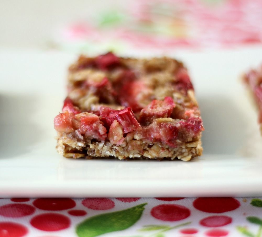 Strawberry Rhubarb Crisp Bars Vegan Gluten Free Recipe Strawberry Rhubarb Crisp Dairy Free Baking Rhubarb