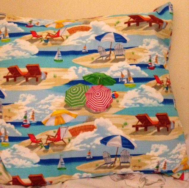 Sasha made this cute seaside themed envelop cushion!