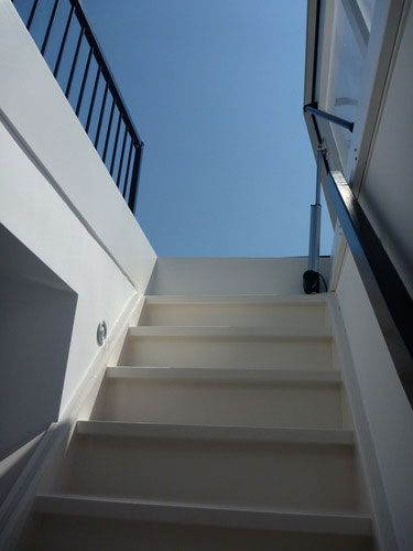 Roof Access Hatch With Fixed Stairs Staka With Images Roof Terrace Roof Hatch Patio Roof