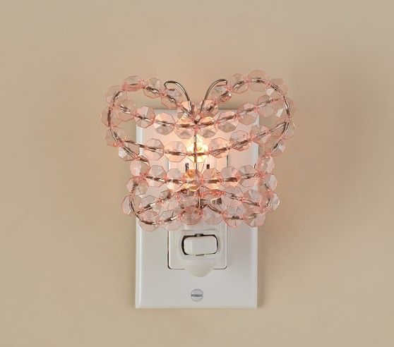 Crystal Butterfly Nightlight Pottery Barn Kids Butterfly Room