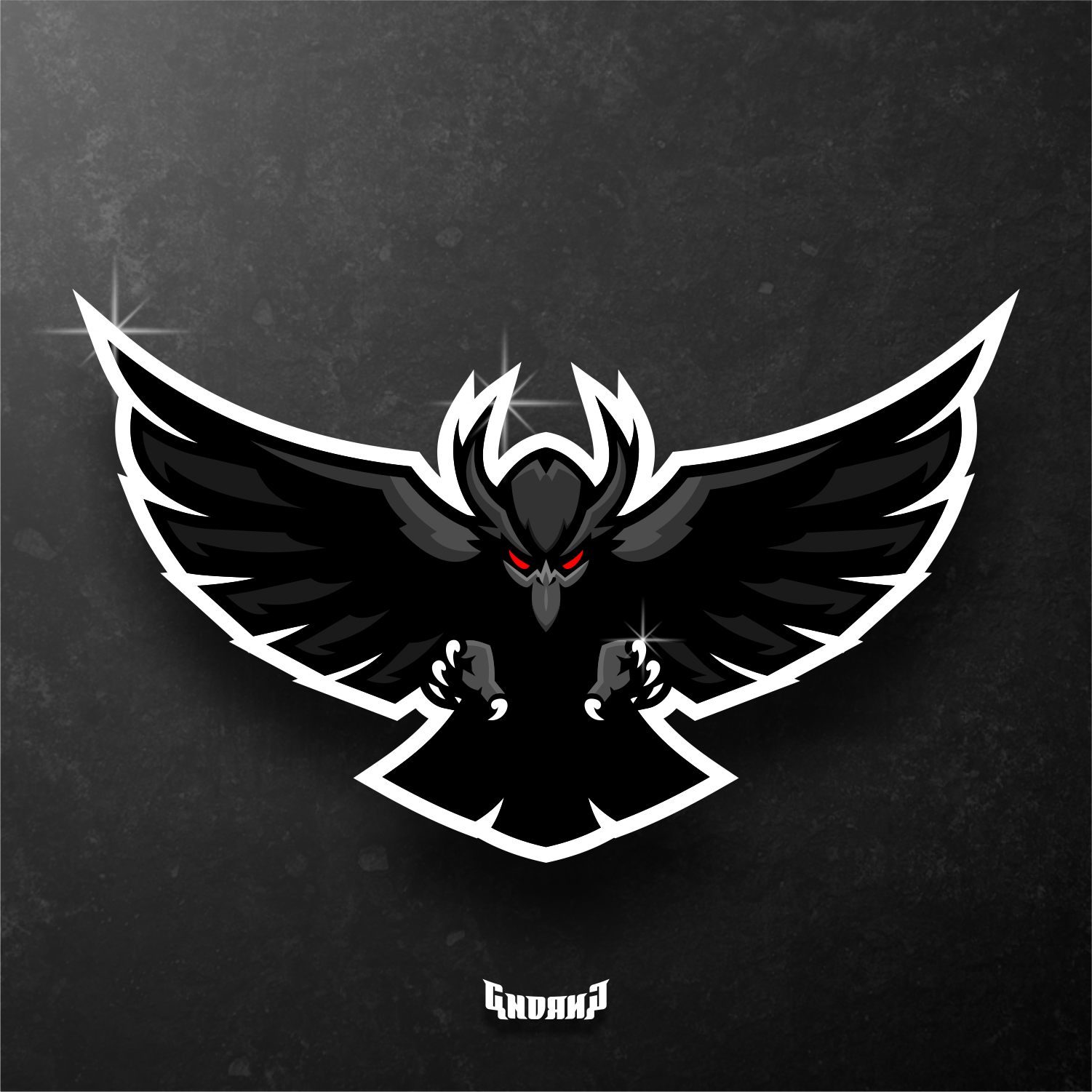 Raven Wing Mascot logo . Signed up now to a member