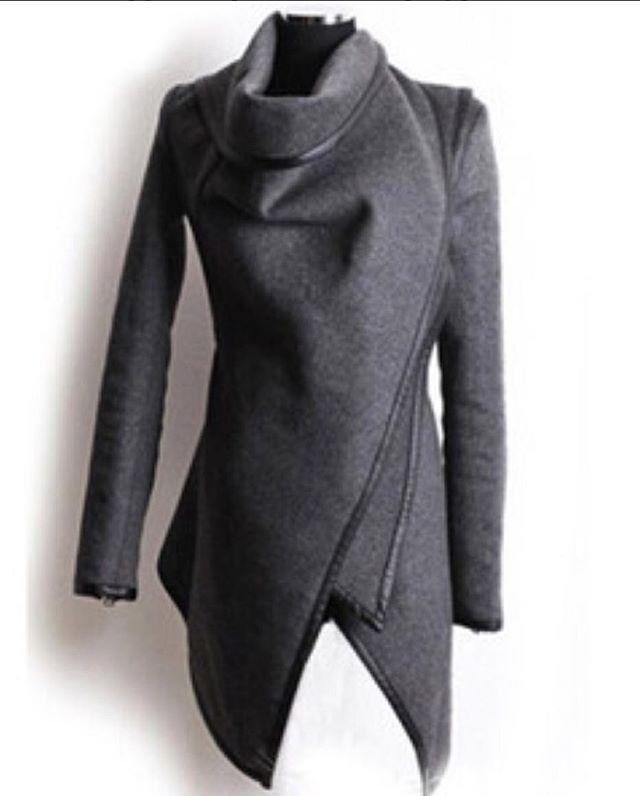 تـنـسـيـقـات On Instagram النوع جاكيت شتوي اللون أسود رمادي كحلي بيج عنابي أخضر المقاس S M L Xl Xxl Fashion Asymmetrical Coat Clothes