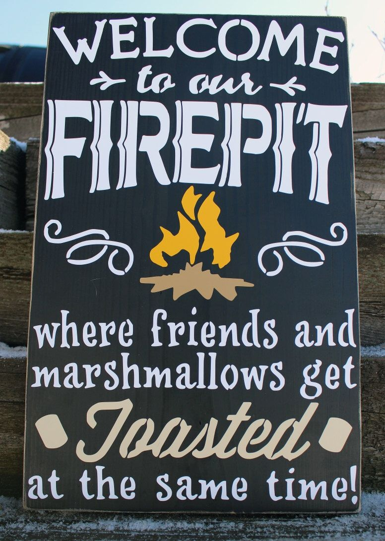 Welcome to our firepit, welcome to the firepit, fire pit signs, wood firepit  sign, fire pit sign by TaylorSigns on Etsy ... - Welcome To Our Firepit, Welcome To The Firepit, Fire Pit Signs, Wood