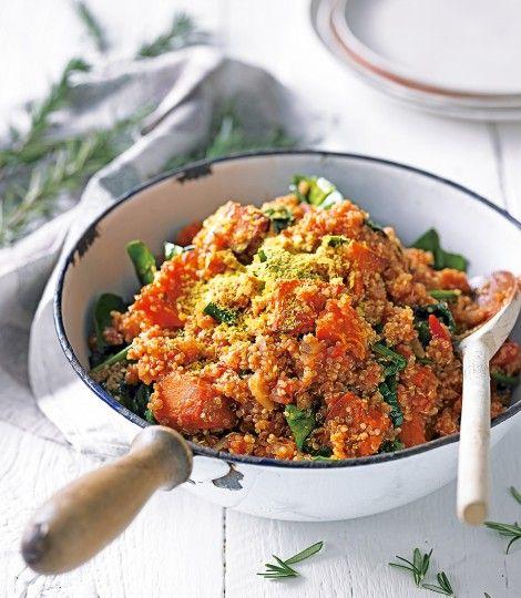 Quinoa risotto with pumpkin and spinach - delicious. magazine