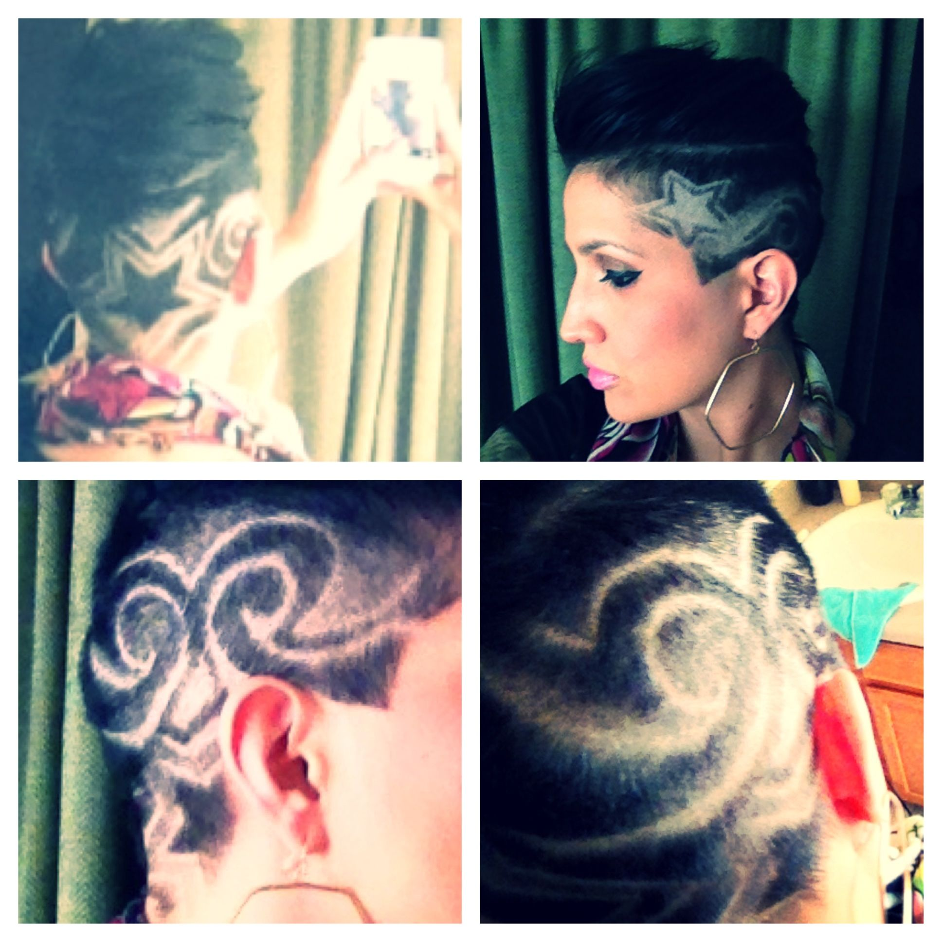 Shaved head design the