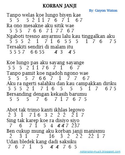 Guyon Waton Korban Janji Chord : guyon, waton, korban, janji, chord, Chord, Lihat, Kebunku, Lirik, Lamat, Cute766