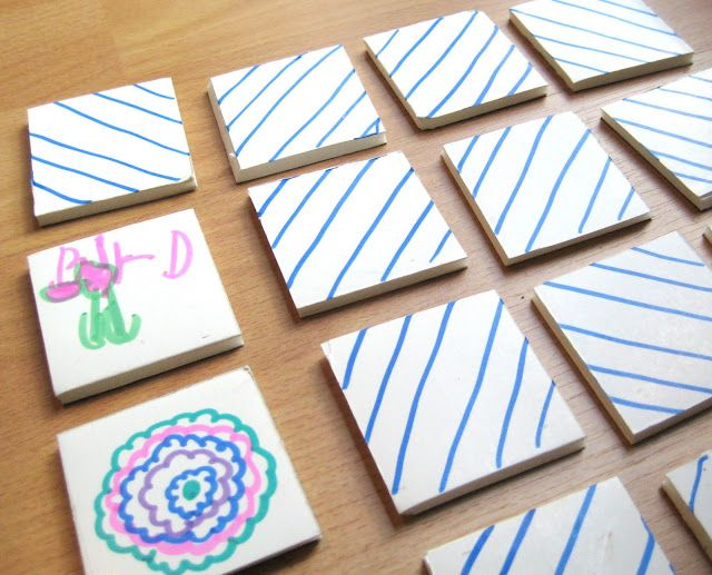 Homemade Memory Game With Foam Board