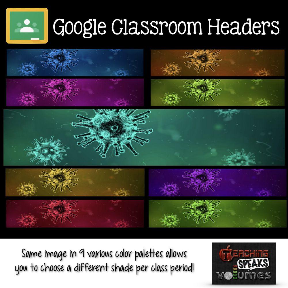 Science Headers For Google Classroom Google Classroom Language Arts Teacher Classroom