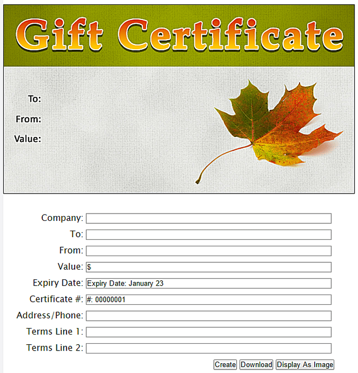 free gift certificate templates you can customize funeral
