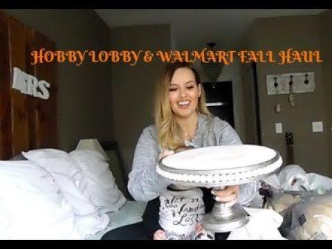 Late Fall Haul Hobby Lobby and Walmart haulHalloween decor - hobby lobby halloween decor