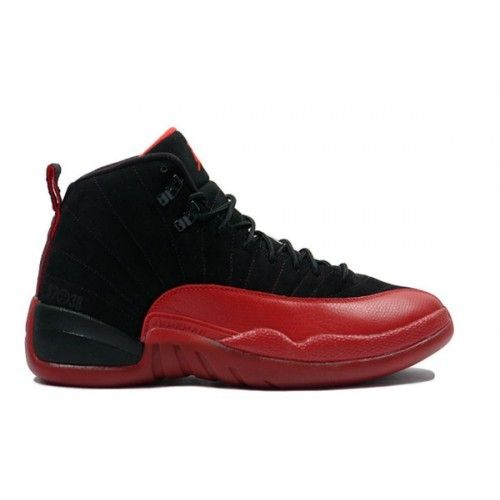 c27aa80f914 Air Jordan 12 Flu Game Negro Varsity Rojo Hombre Basketball Zapatillas 100%  Originales