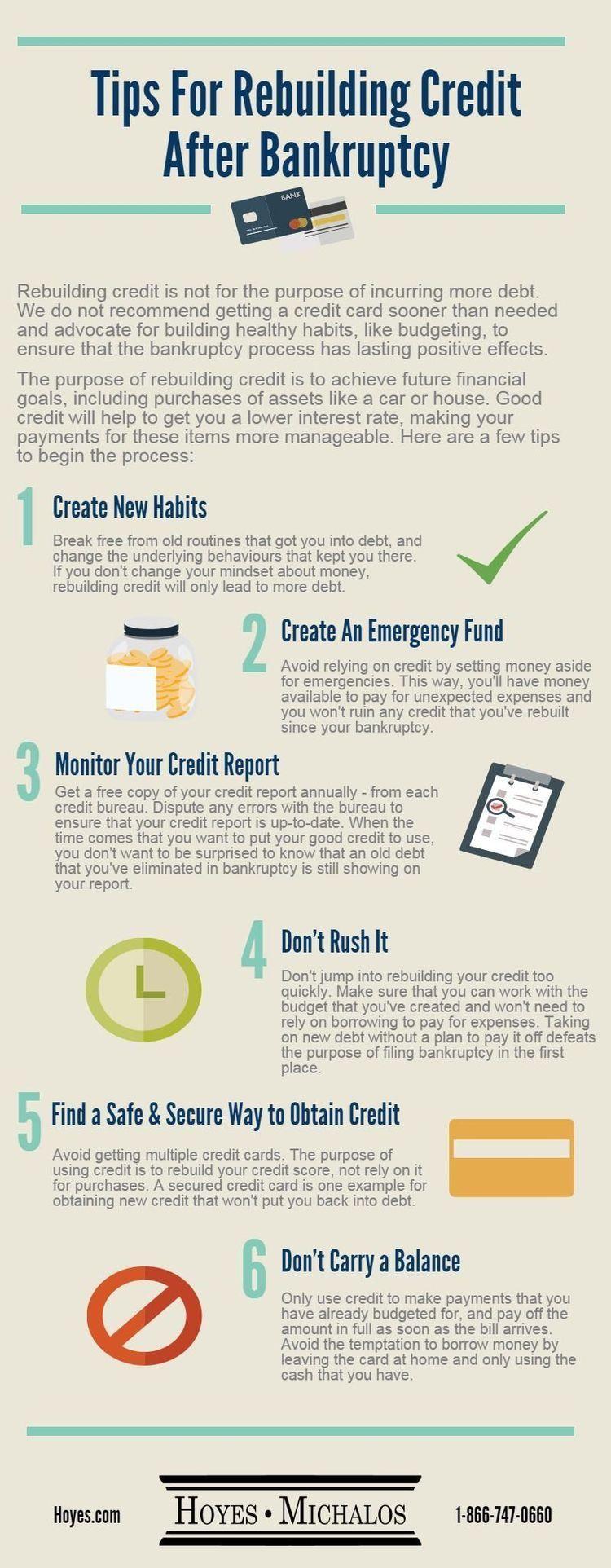 Rebuild credit after bankruptcy Rebuilding credit