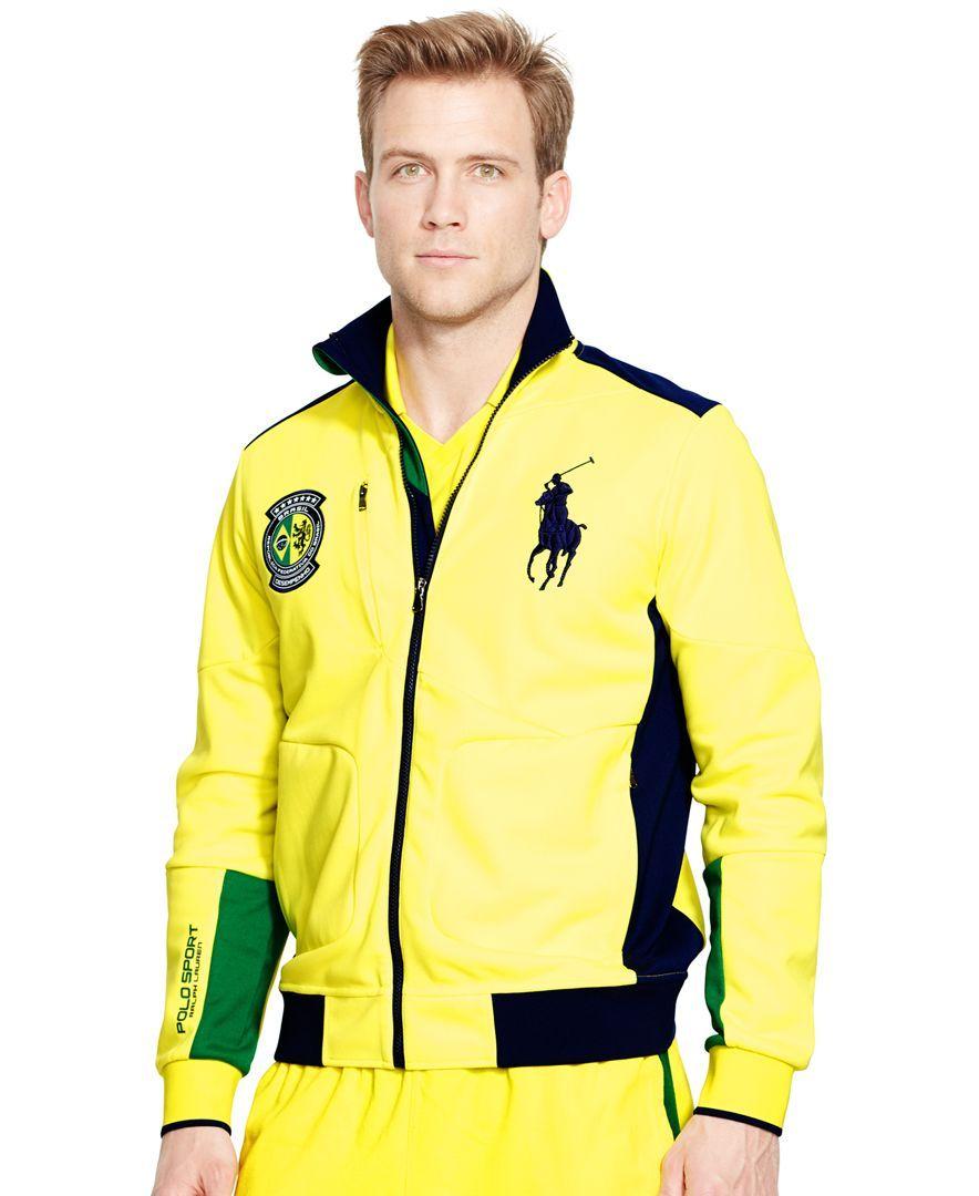 Polo Ralph Lauren Brasil FullZip Track Jacket Jackets