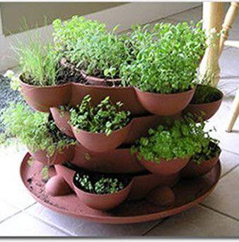 Indoor Herb Garden Stackable Planter   Terracotta   Traditional   Indoor  Pots And Planters   Salt Lake City   HerbKits.com