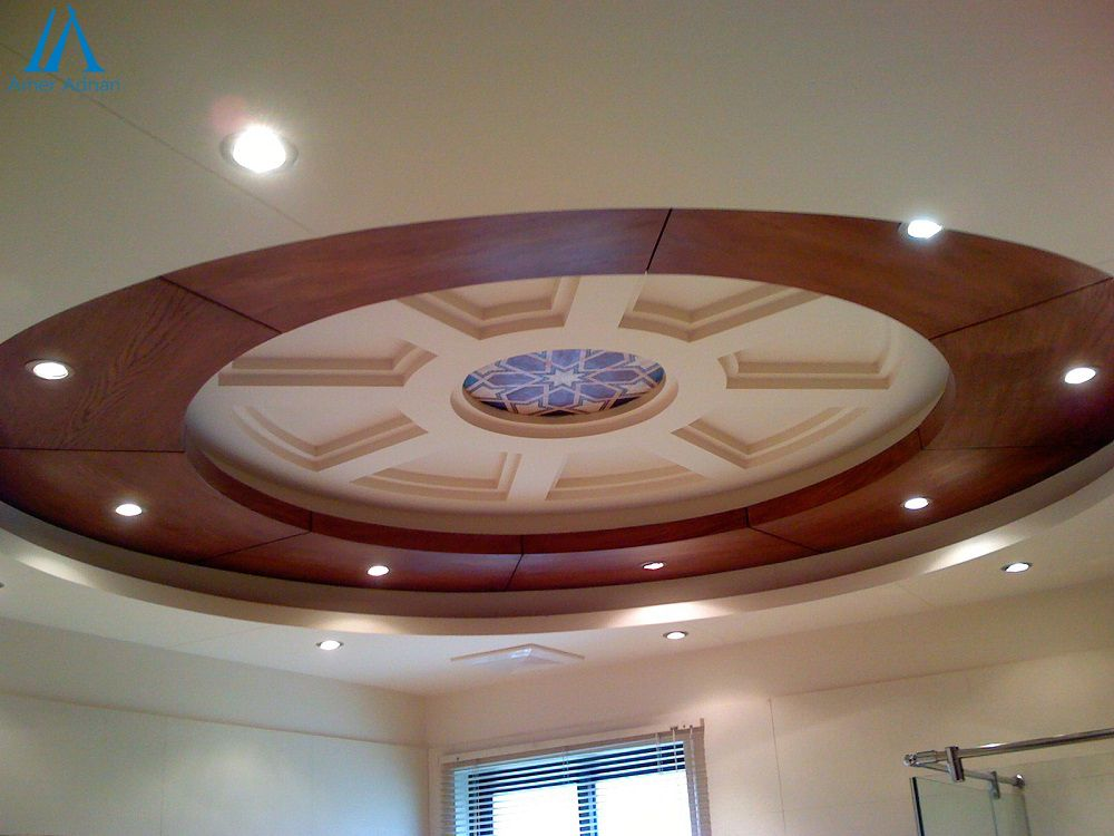 Modern false ceiling design and construction work by team for False ceiling design for lobby