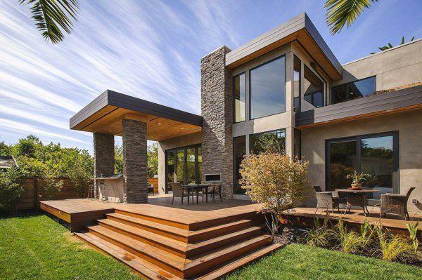 pergola markise spektakulär Überdachte Terrasse modern holz - terrasse ideen modern gestalten