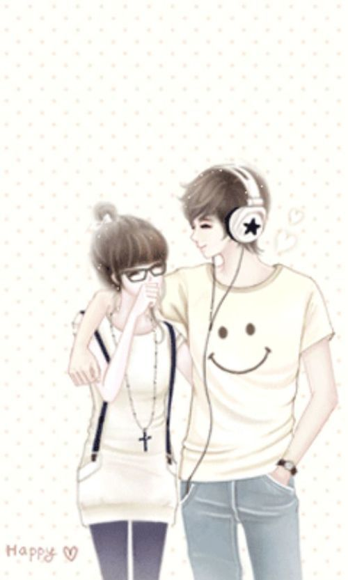 Cute Anime Y Anime Korea Animated Love Images Cute Couple Cartoon
