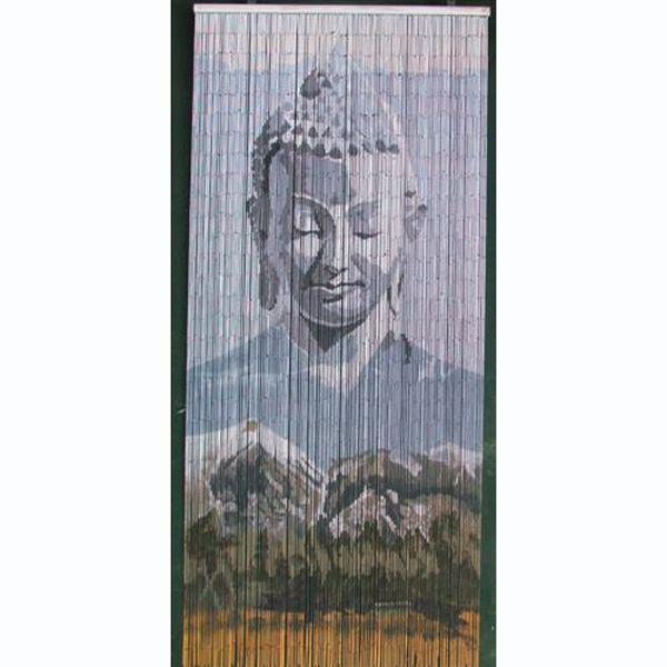 New Age Home Decor: Mountain Buddha Beaded Door Curtains