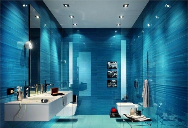 25 Amazing Luxury Blue Bathroom Design Ideas Blue Bathroom Decor Bathroom Tile Designs Modern Bathroom Design