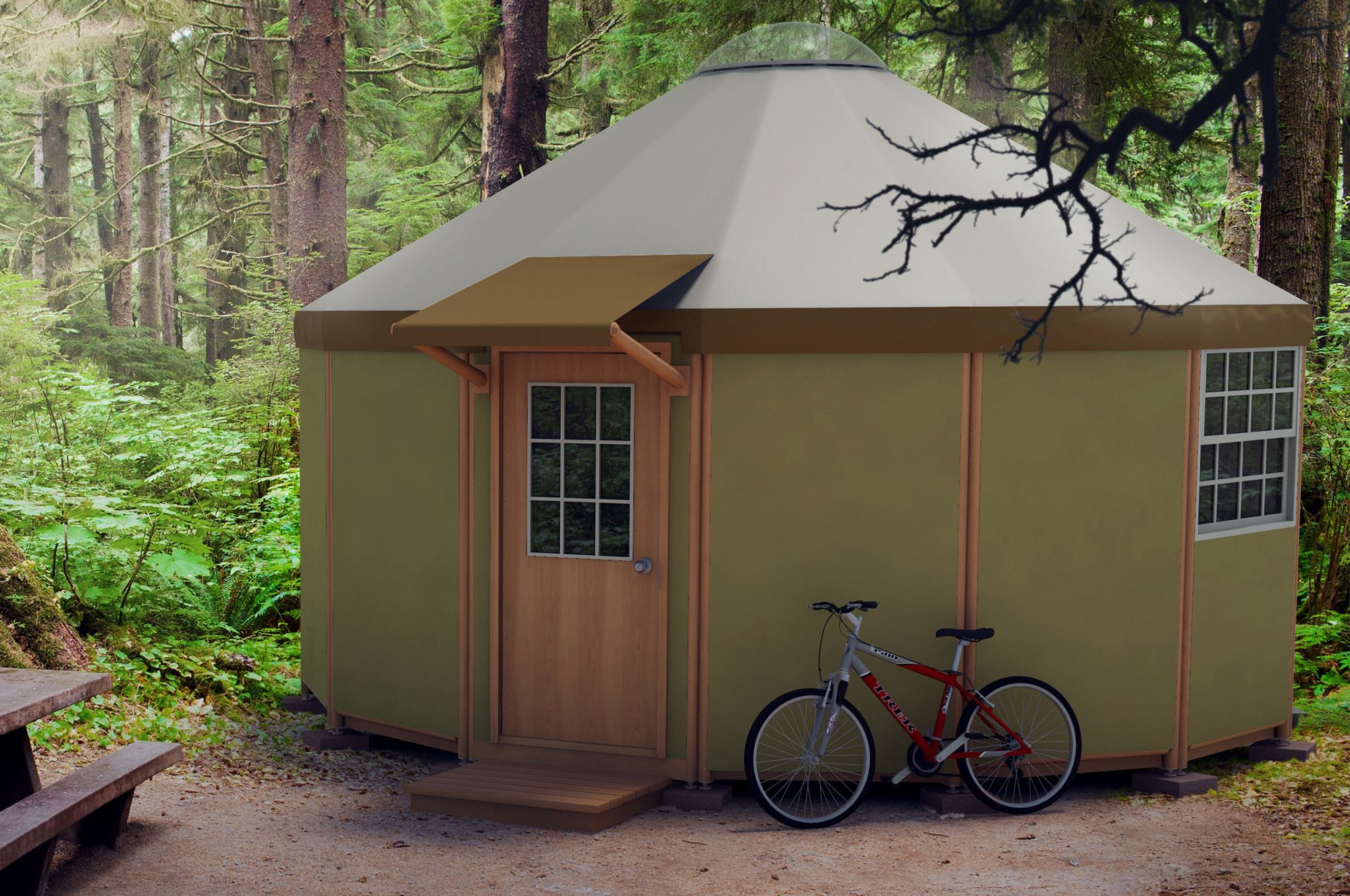 Freedom Yurt Cabin 14 Wall Small Homes for Sale DIY