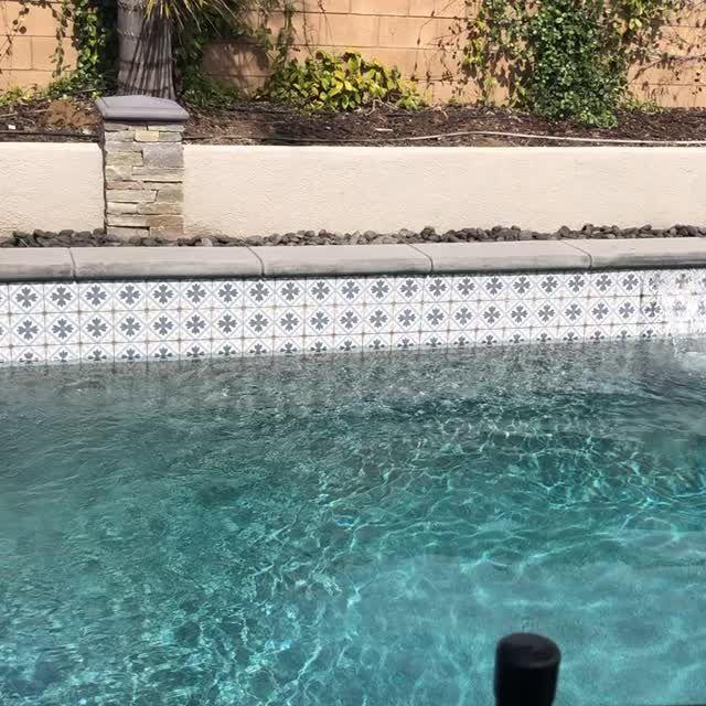 Martia 6 Swimming Pool Tiles Pool Water Features Waterline Pool Tile