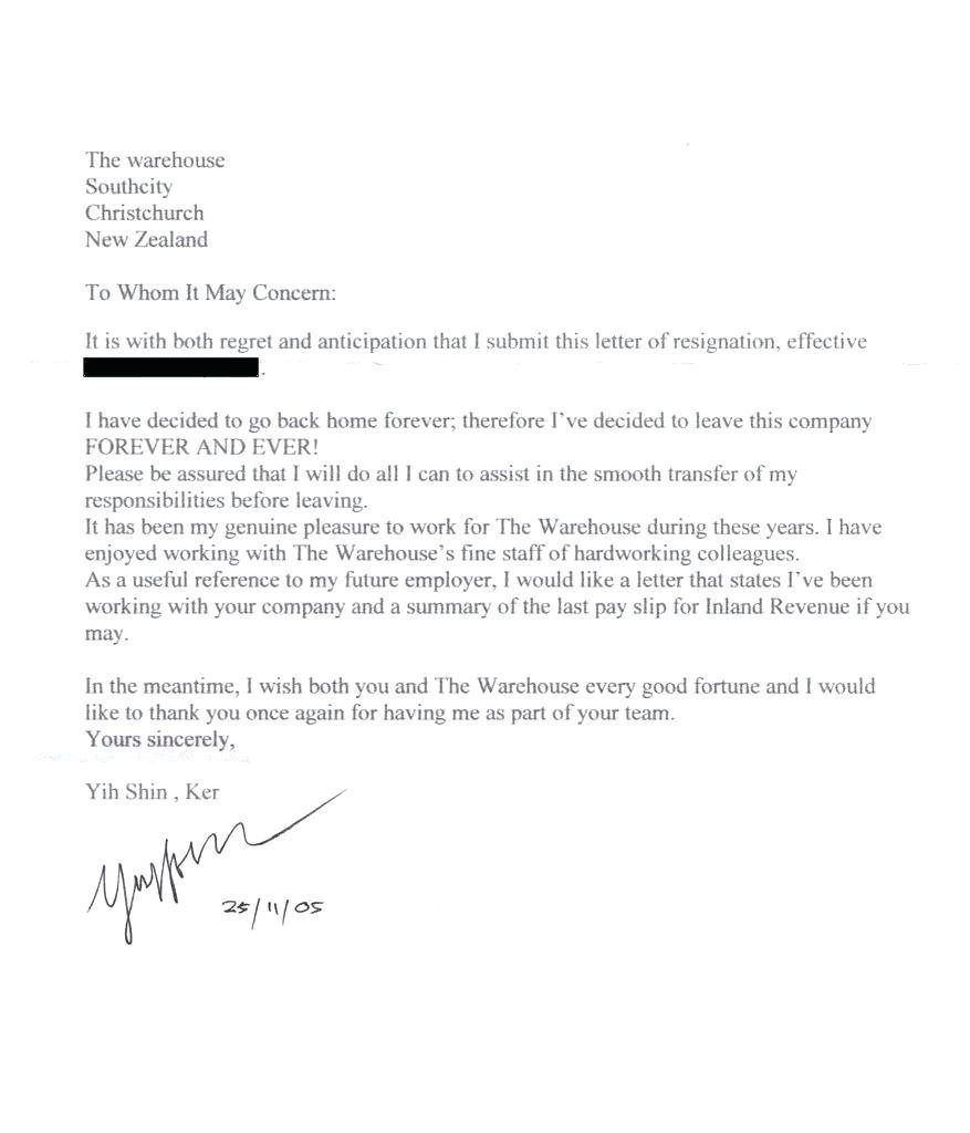 Resignation Letters Tips Making A Basic Resignation Letter