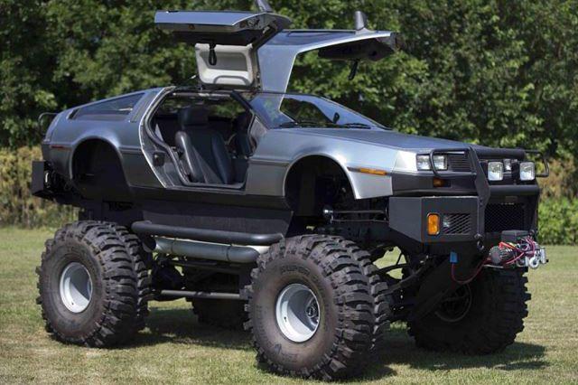 Lifted Delorean Transport Cars Trucks Monster Trucks