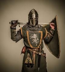 This is where Sean's knight outfit needs to be, minus the helmet! LOVE the green.