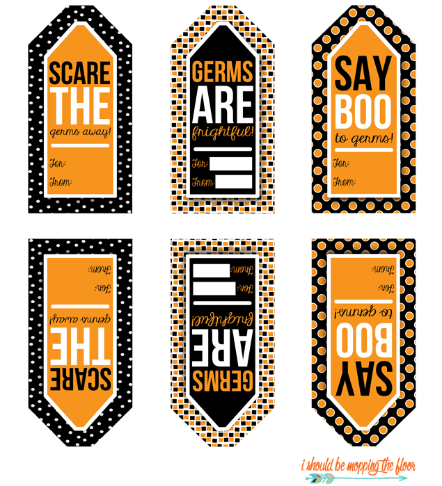 halloween gift tags for soaps and sanitizers volunteerisms rh pinterest fr