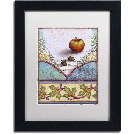 Trademark Fine Art Lc Apple Canvas Art By Rachel Paxton White Matte Black Frame Size 11 X 14 Assorted Framed Art Trademark Art Trademark Fine Art