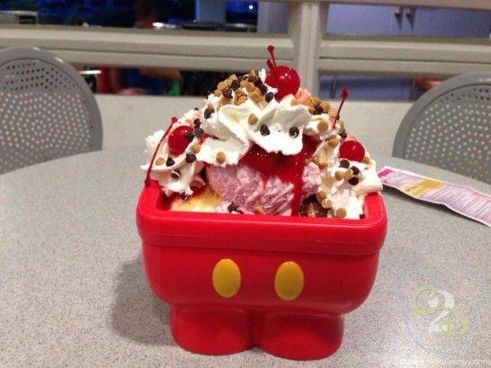 Mickey Kitchen Sink Dessert At Plaza Restaurant In Magic Kingdom Disney Desserts Mickey Kitchen Disney World Food