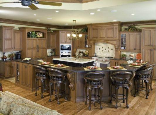 Large kitchen design Cocinas de Ensueño!! Pinterest Cocinas y - cocinas grandes de lujo
