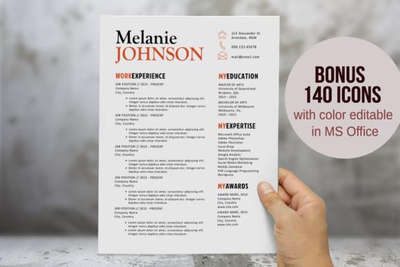 3 in 1 modern resume template cleanresume resume template word
