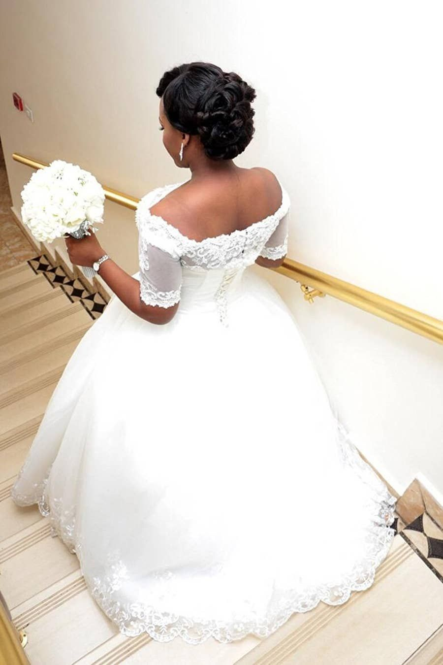20 Gorgeous Wedding Dresses You Won T Believe You Can Find On Amazon In 2020 Ball Gowns Wedding Ball Gown Wedding Dress Short Sleeve Wedding Dress
