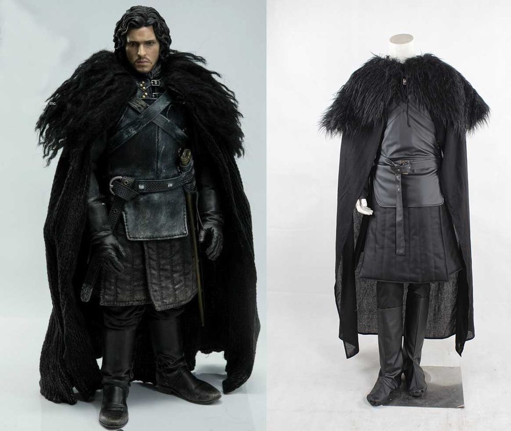 Game of Thrones Mens Costume Jon Snow Outfit Coat Cos Mens Costumes Fancy Dress