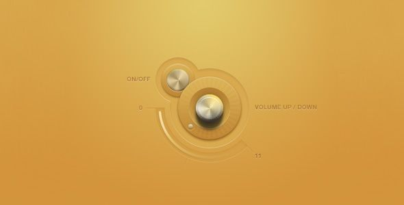 knob in yellow