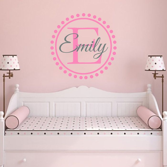 Girls Name Custom Wall Decal Vinyl Monogram Wall Decor Sticker