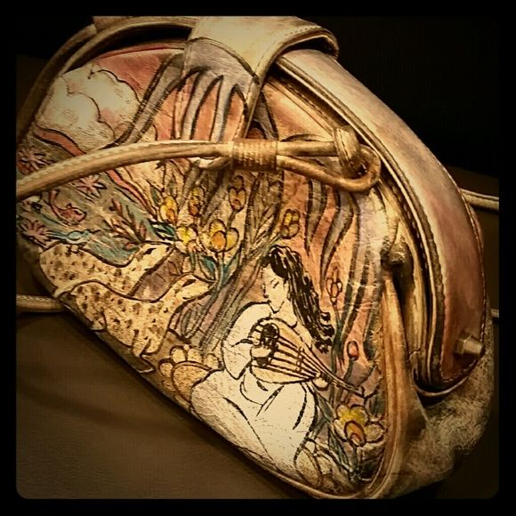 Vintage Jane Yoo Purse Beautifully Hand Painted By Artist Bags