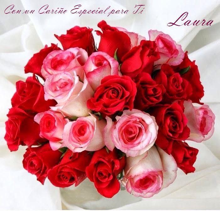 Happy Birthday, Red, White Roses