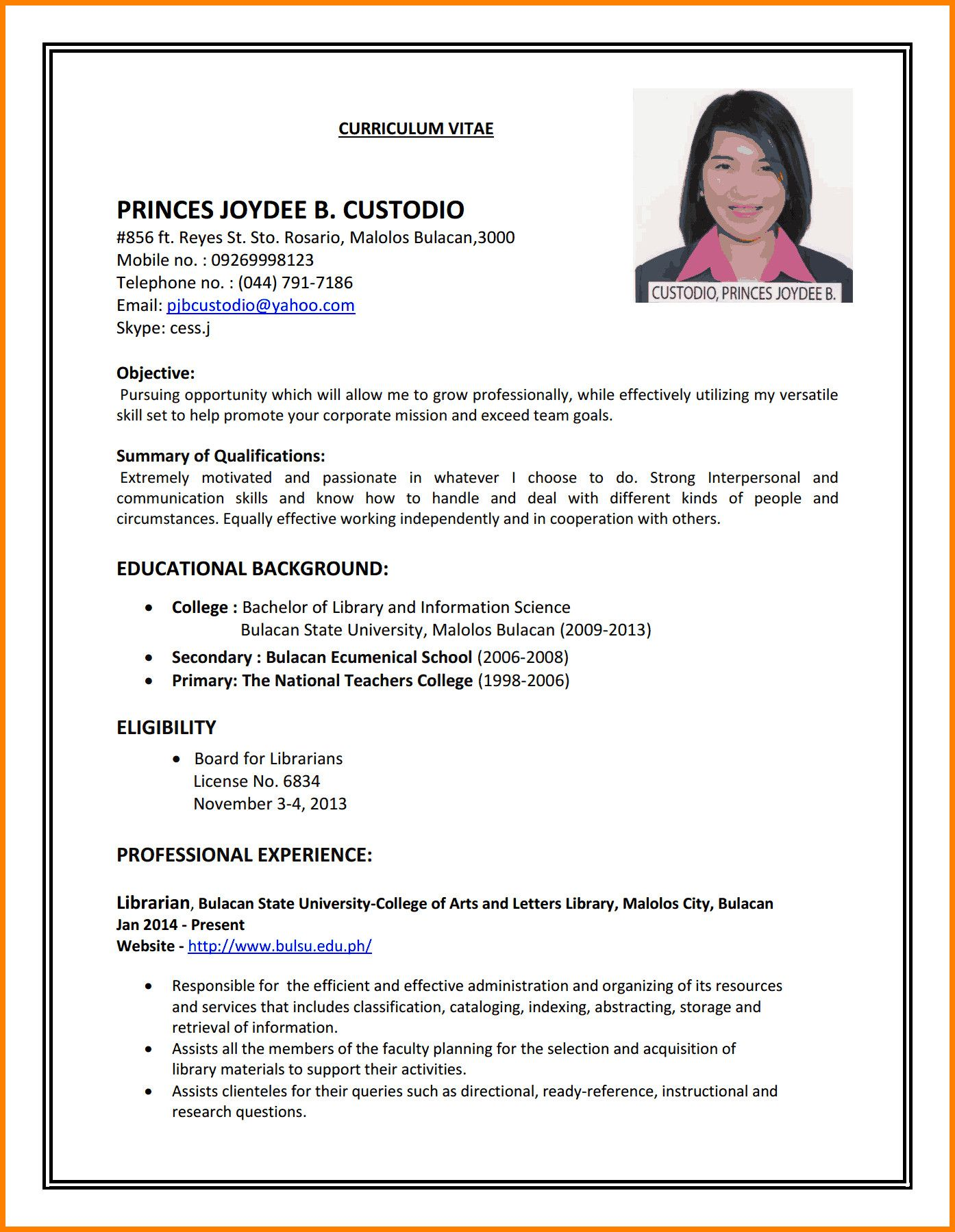 Sample Resumes First Time Job Seekers Attractive How To