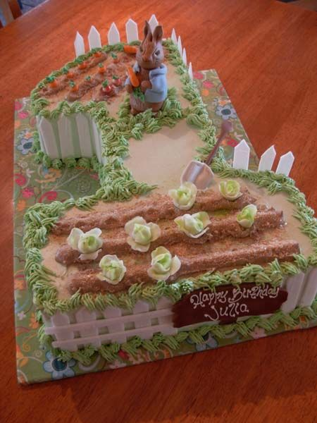 Peter Rabbit First Birthday Cake With Images Birthday Cake