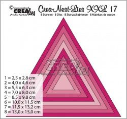 Crealies Crea-Nest-Lies XXL no 95 Rectangles With Rough Edges CLNESTXXL95