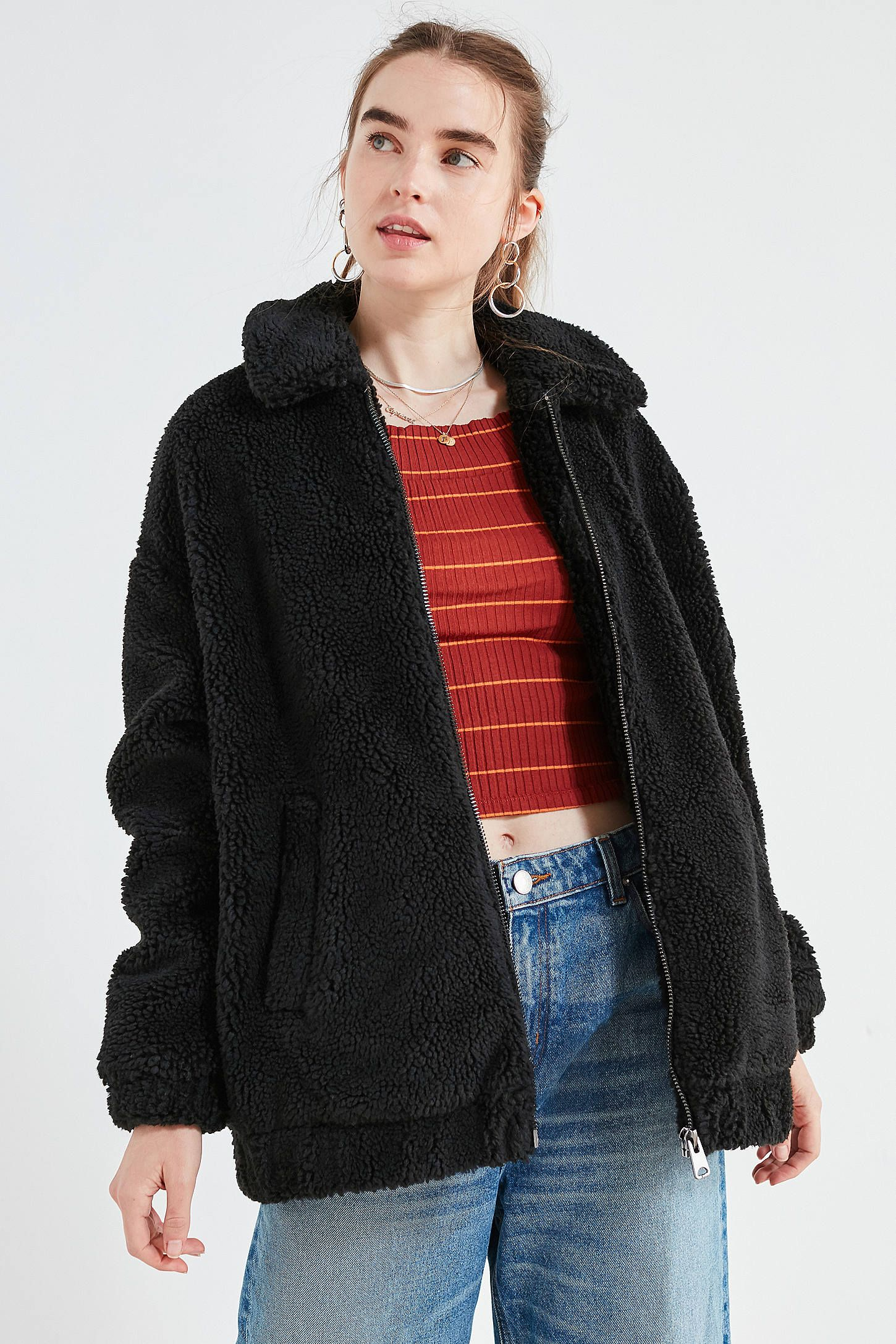 809abda8 Shop Light Before Dark Oversized Sherpa Zip-Up Jacket at Urban Outfitters  today. We carry all the latest styles, colors and brands for you to choose  from ...