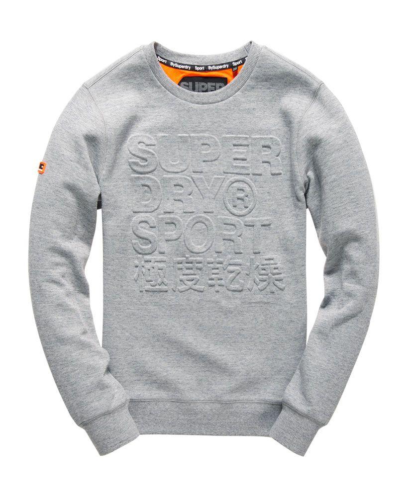 e25fe1f830e9 Superdry Gym Tech Embossed Crew Sweatshirt - Men's Tops | TEE IDEAS ...