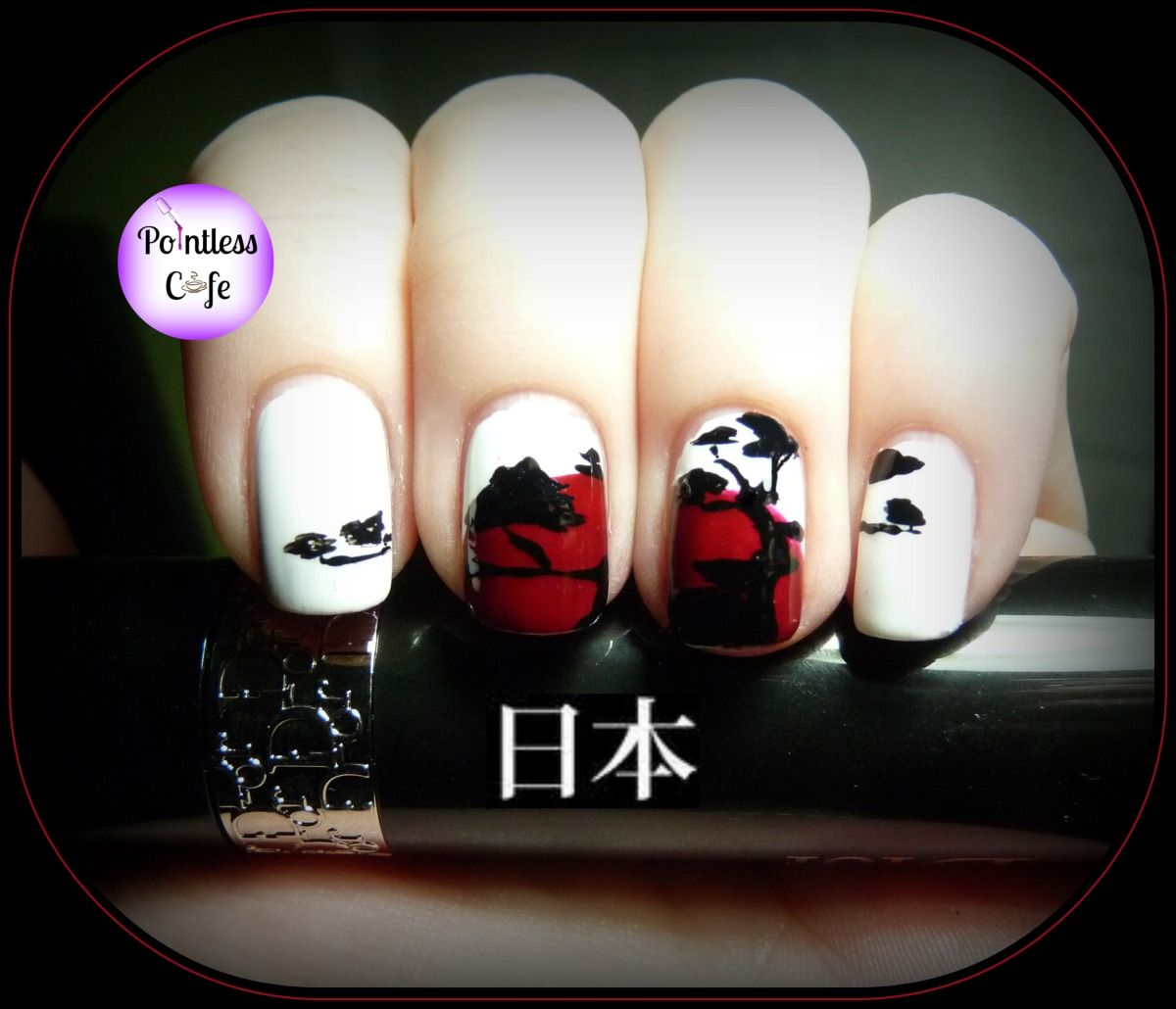 Nail Art Theme Week: Japanese - Day One Japanese Pine Silhouette ...