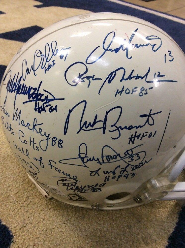 3f6450cbe8d NFL HALL OF FAME LEGENDS SIGNED HELMET GALE SAYERS DICK BUTKUS TONY  DORSETT... (eBay Link)